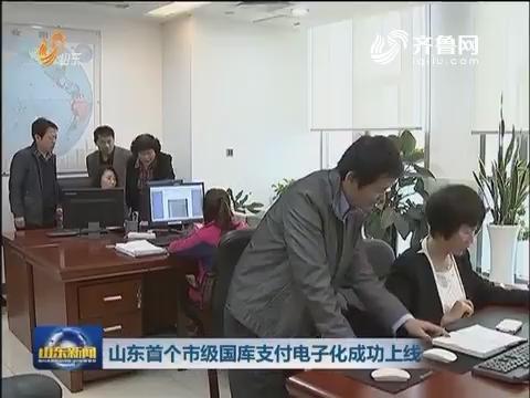 临沂市级国库支付电子化成功上线