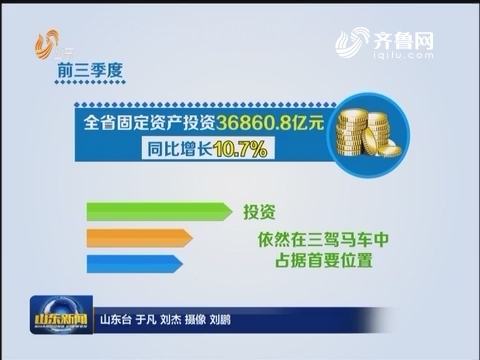 前三季度山东投资消费增长双超10%