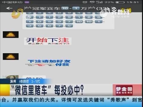 """青岛:""""微信里赌车""""每投必中?"""