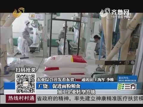 【农业综合开发看东营】广饶:促进面粉粮食加工企业转型升级