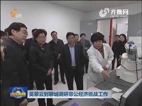 吴翠云到聊城调研非公经济统战工作