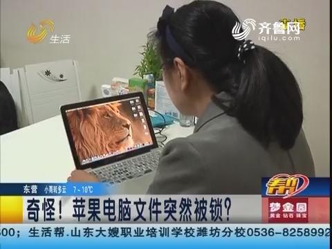 青岛:奇怪!苹果电脑文件突然被锁?
