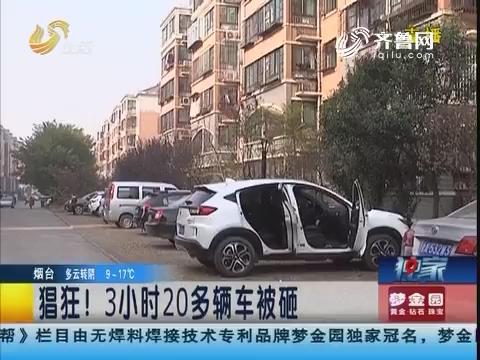 济南:车辆被砸 车座上留脚印