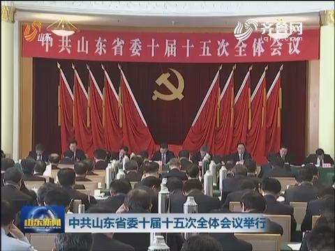 中共山东省委十届十五次全体会议举行