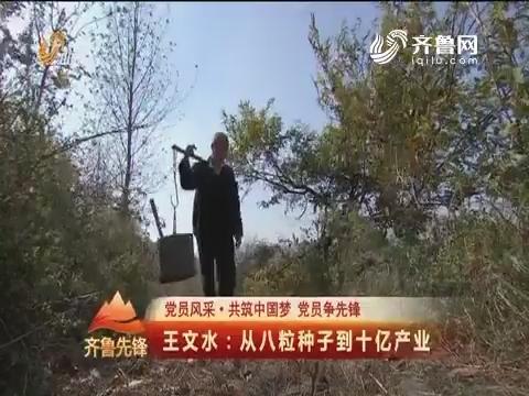 20161121《齐鲁先锋》:党员风采·共筑中国梦党员争先锋 王文水——从八粒种子到十亿产业