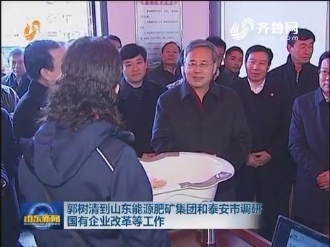郭树清到山东能源肥矿集团和泰安市调研国有企业改革等工作