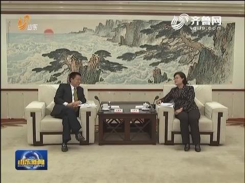 吴翠云会见香港山东商会联合总会参访团