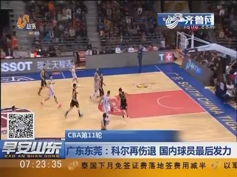 CBA第11轮 广东东莞:科尔再伤退 国内球员最后发力