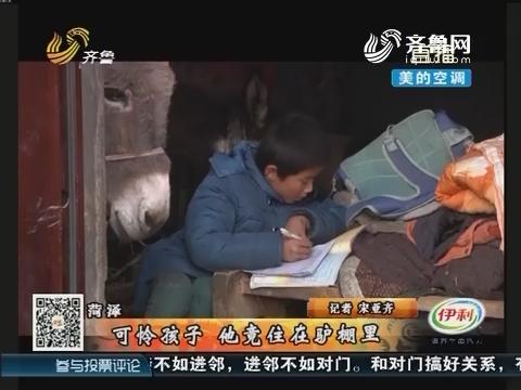 菏泽:可怜孩子 他竟住在驴棚里
