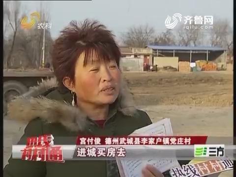 """武城:老旧宅基地换来万元""""房票"""""""