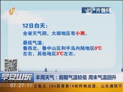 【早安山东探天气】本周天气:前期气温较低 周末气温回升