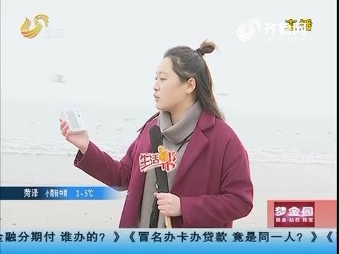 青岛:雾袭岛城 游客看不清海