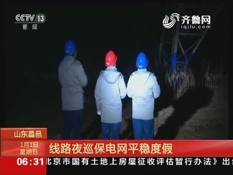 山东昌邑:线路夜巡保电网平稳度假