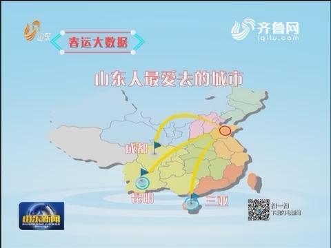 【春运大数据】山东人出国游日韩最热 国内最爱去三亚昆明