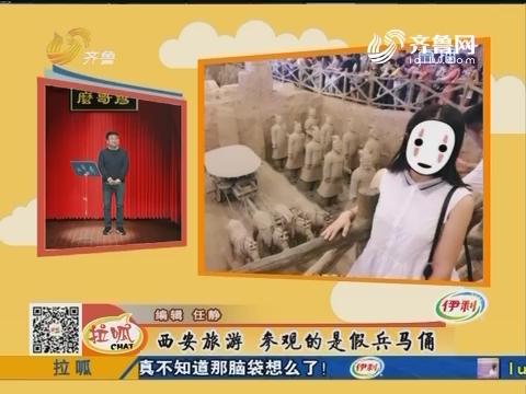 么哥秀:西安旅游 参观的是假兵马俑