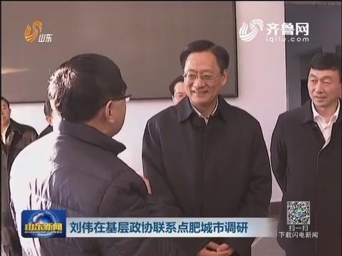 刘伟在基层政协联系点肥城市调研