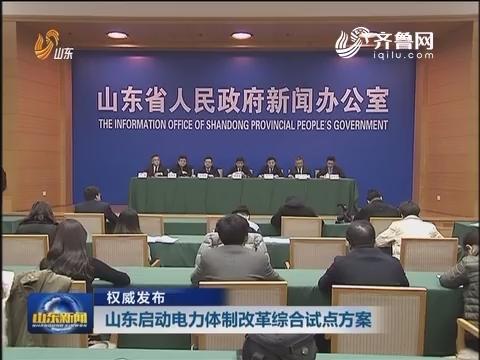 【权威发布】山东启动电力体制改革综合试点方案