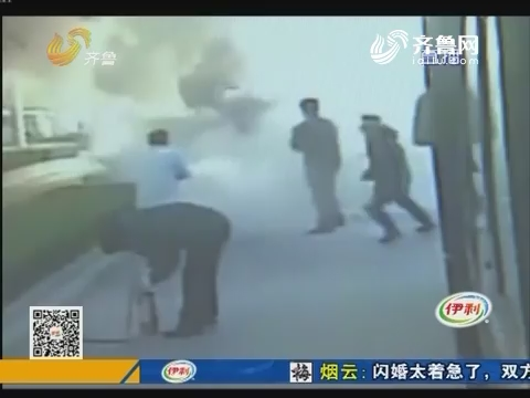 淄博:路遇险情 公交司机伸援手