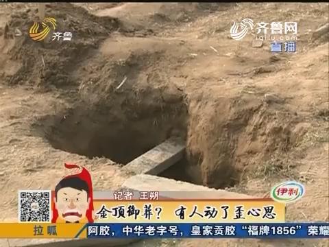 淄博:金顶御葬?有人动了歪心思