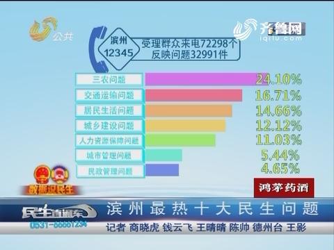 【数据说民生】滨州最热十大民生问题