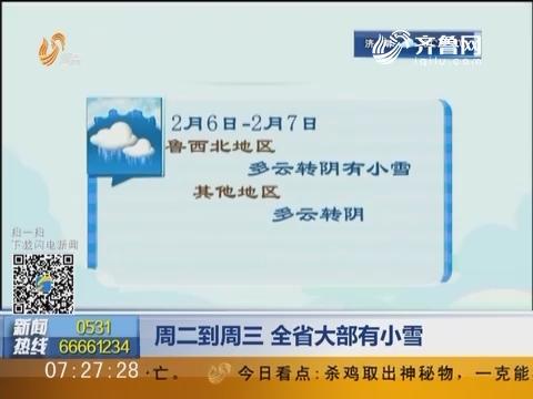 2月7日到2月8日 山东省大部有小雪