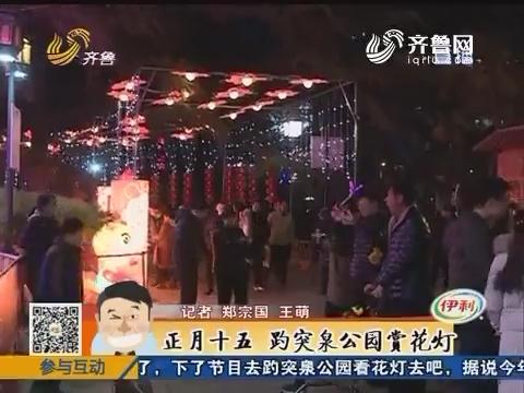 济南:正月十五 趵突泉公园赏花灯