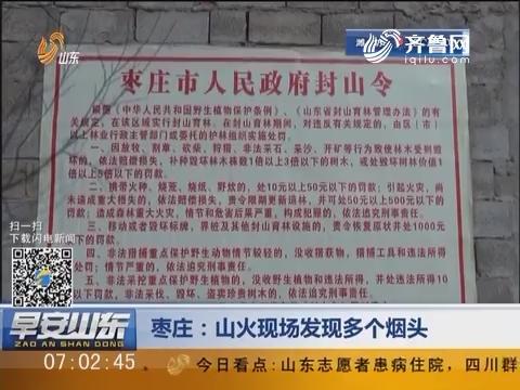 枣庄:山火现场发现多个烟头