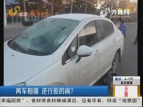 潍坊:两车相撞 逆行惹的祸?