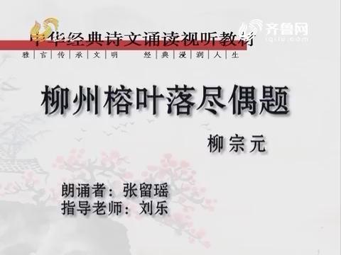 中华经典诵读部分:柳州榕叶落尽偶题