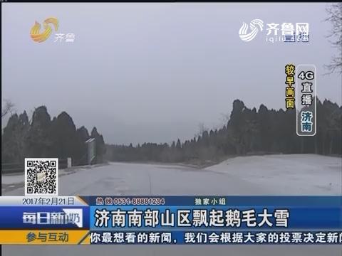 4G直播:济南南部山区飘起鹅毛大雪