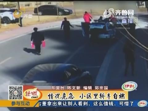 东营:情况危急 小区里轿车自燃