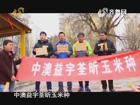 20170225《当前农事》:中澳益宇荃昕玉米种