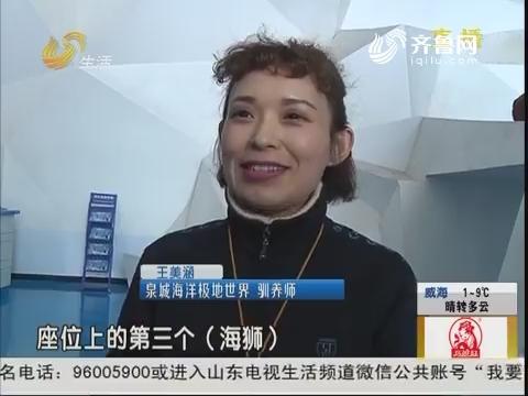 """济南:海狮""""恋人""""——美女驯养师"""