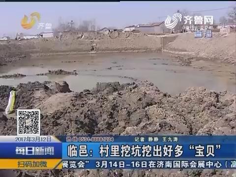 """临邑:村里挖坑挖出好多""""宝贝"""""""
