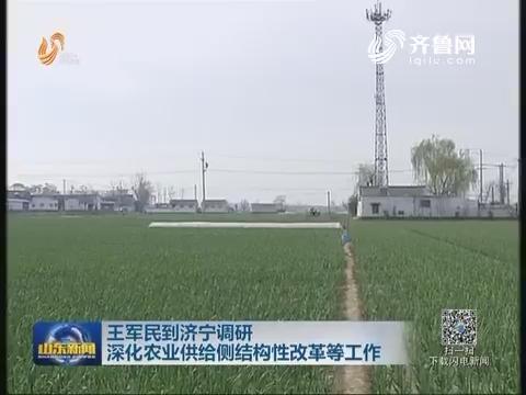 王军民到济宁调研 深化农业供给侧结构性改革等工作