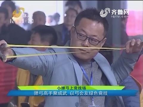 小弹弓上竞技场:弹弓高手聚成武 以弓会友绿色竞技