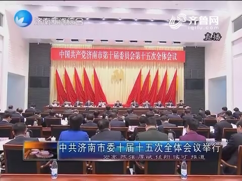 中共济南市委十届十五次全体会议举行