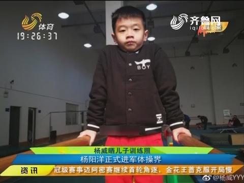 【闪电速递】杨威晒儿子训练照 杨阳洋正式进军体操界