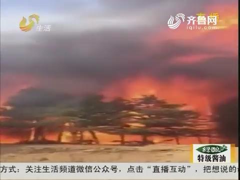 【电话连线】栖霞市亭口镇附近突发火灾