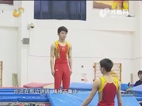 蹦床上的较量:全景全运 山东蹦床队举行队内测试赛