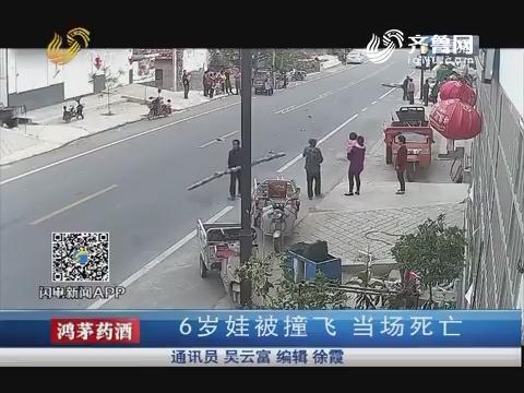 临沂:6岁娃被撞飞 当场死亡