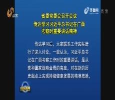 山東省委常委會召開會議 傳達學習習近平總書記在廣西考察時重要講話精神
