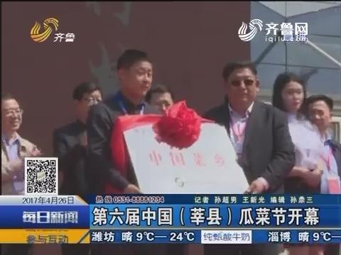 第六届中国(莘县)瓜菜节开幕