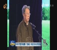 2017孟子故里(邹城)母亲文化节开幕
