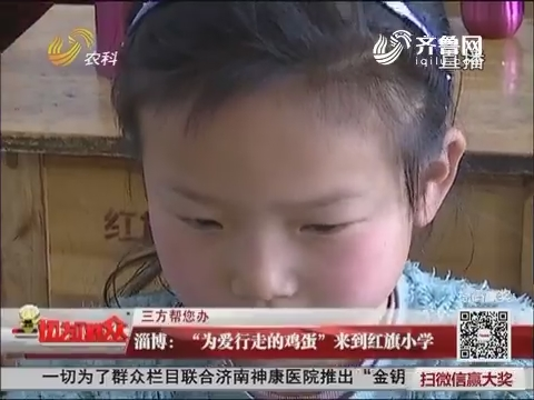 """【三方帮您办】淄博:""""为爱行走的鸡蛋""""来到红旗小学"""
