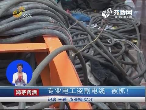 济南:专业电工盗割电缆 被抓!