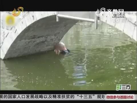 """【群众新闻】""""自杀""""遇尴尬 单县小伙跳河水不及胸"""