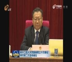 山东省十二届人大常委会第三十次会议举行第二次全体会议