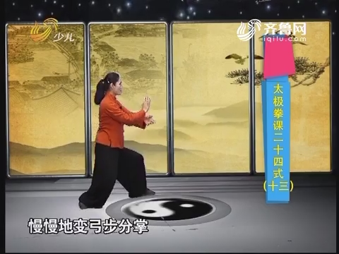 20170521《幸福99》:太极拳课二十四式(十三)
