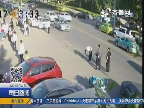 淄博:毕业生鞠躬告别母校感动网友